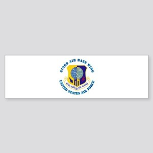 673rd Air Base Wing with Text Sticker (Bumper)
