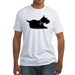 Schnauzer Silhouette Fitted T-Shirt
