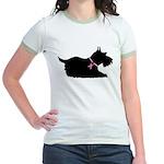 Schnauzer Silhouette Jr. Ringer T-Shirt