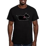Schnauzer Silhouette Men's Fitted T-Shirt (dark)