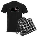 Schnauzer Silhouette Men's Dark Pajamas