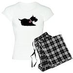 Schnauzer Silhouette Women's Light Pajamas