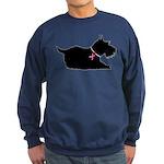 Schnauzer Silhouette Sweatshirt (dark)