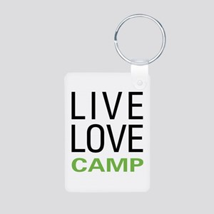 Live Love Camp Aluminum Photo Keychain