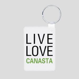 Live Love Canasta Aluminum Photo Keychain