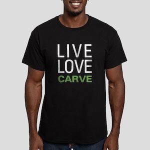 Live Love Carve Men's Fitted T-Shirt (dark)