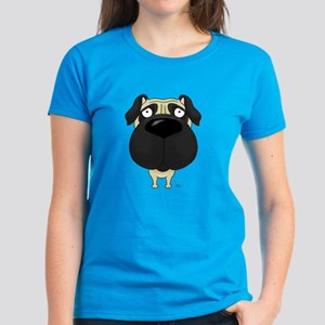 Big Nose Pug Women's Dark T-Shirt