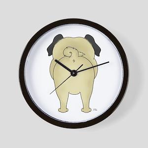 Big Butt Pug Wall Clock