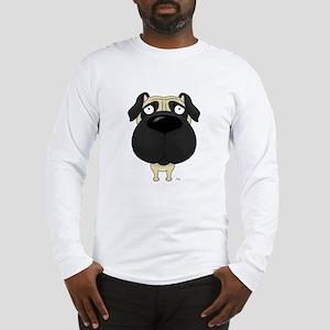 Big Nose Pug Long Sleeve T-Shirt