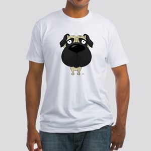 Big Nose Pug Fitted T-Shirt