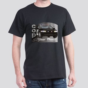 Custom Personalized Cop Dark T-Shirt