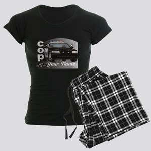 Custom Personalized Cop Women's Dark Pajamas