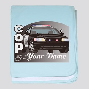 Custom Personalized Cop baby blanket
