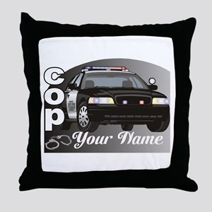Custom Personalized Cop Throw Pillow