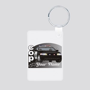 Custom Personalized Cop Aluminum Photo Keychain