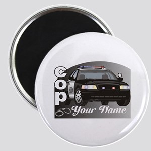 Custom Personalized Cop Magnet