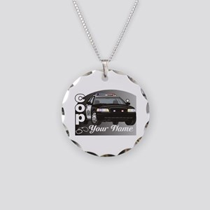 Custom Personalized Cop Necklace Circle Charm