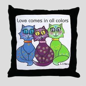 """""""Cat Colors"""" Throw Pillow"""