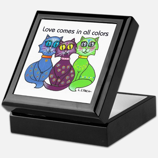 """Cat Colors"" Keepsake Box"