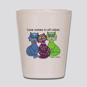 """Cat Colors"" Shot Glass"