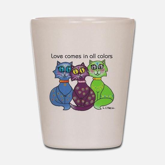"""Cat Colors"" Shot Glass"