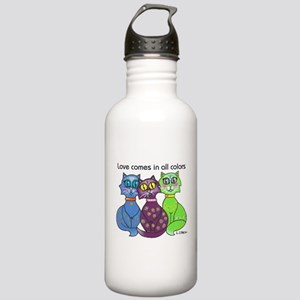 """""""Cat Colors"""" Stainless Water Bottle 1.0L"""