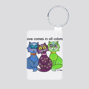 """Cat Colors"" Aluminum Photo Keychain"