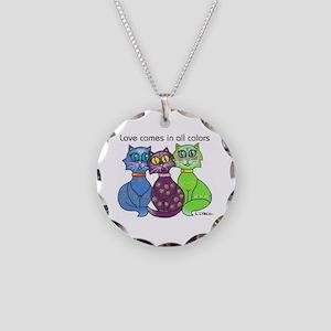 """Cat Colors"" Necklace Circle Charm"