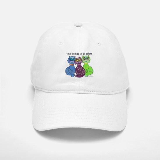 """""""Cat Colors"""" Baseball Baseball Cap"""