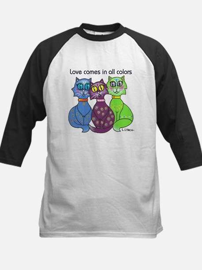"""Cat Colors"" Kids Baseball Jersey"