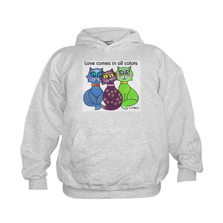 """Cat Colors"" Kids Hoodie"