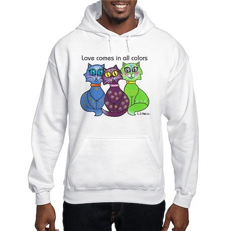 """Cat Colors"" Hooded Sweatshirt"