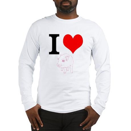 I Heart Pigs Long Sleeve T-Shirt