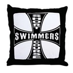 Short Course Swimmers Throw Pillow