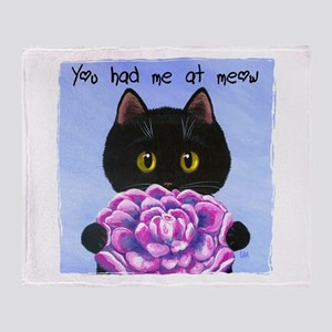 """You Had Me at Meow"" Throw Blanket"