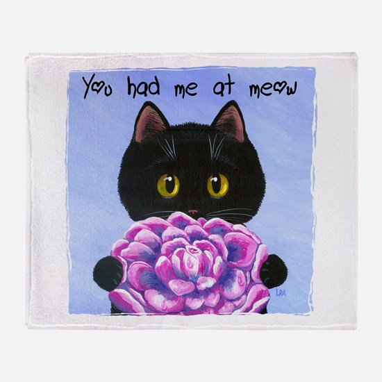 """""""You Had Me at Meow"""" Throw Blanket"""