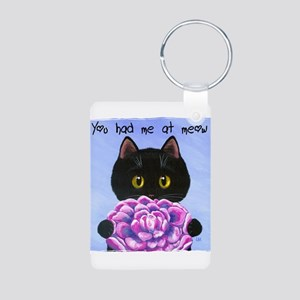 """You Had Me at Meow"" Aluminum Photo Keychain"