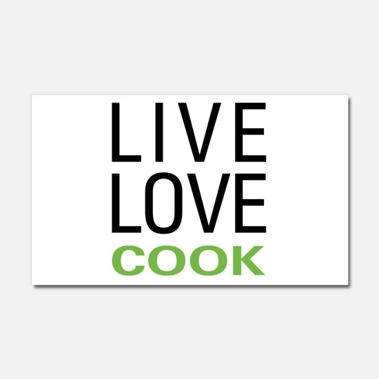 Live Love Cook Car Magnet 20 x 12