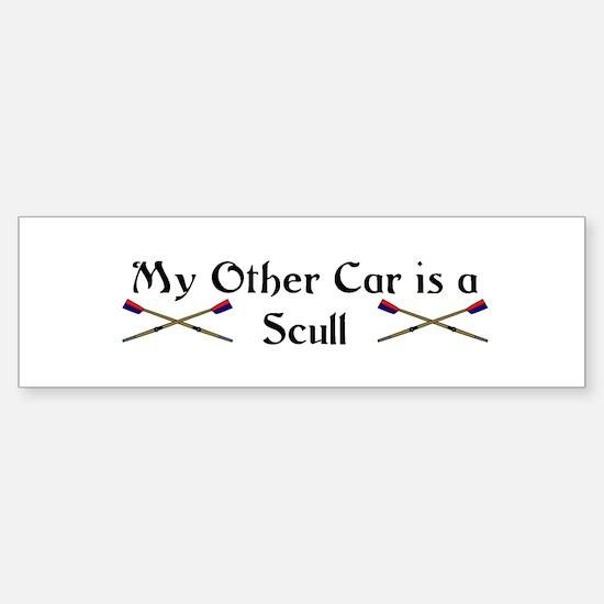 My other Car is a Scull Bumper Car Car Sticker