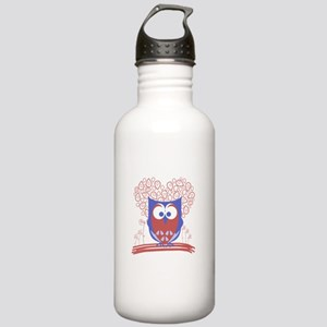 Cute Whimsical Owl Stainless Water Bottle 1.0L