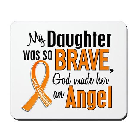 Daughter Leukemia Shirts and Apparel Mousepad