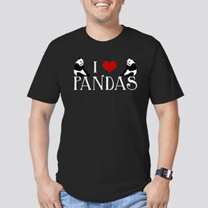 I Heart Pandas Men's Fitted T-Shirt (dark)