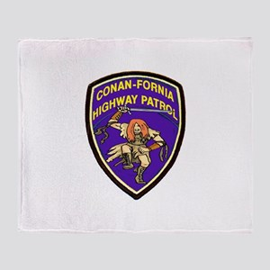 Conan-Fornia Highway Patrol Throw Blanket