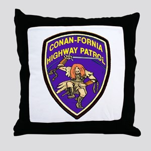 Conan-Fornia Highway Patrol Throw Pillow
