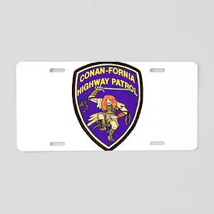 Conan-Fornia Highway Patrol Aluminum License Plate