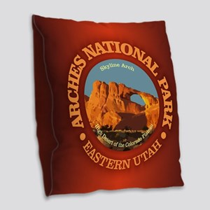Arches National Park Burlap Throw Pillow
