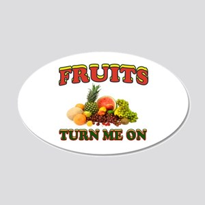 LUV FRUITS 22x14 Oval Wall Peel