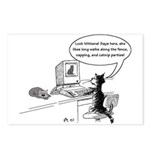 Cats on the web Postcards (Package of 8)