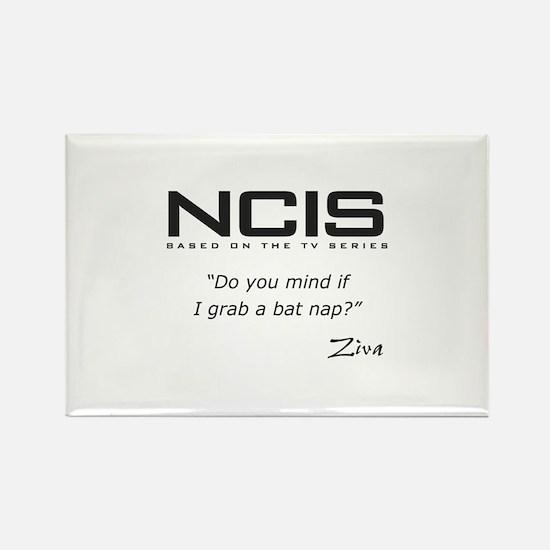 NCIS Ziva David Bat Nap Quote Rectangle Magnet (10