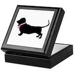 Basset Hound Breast Cancer Support Keepsake Box